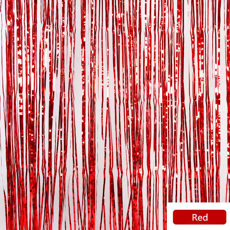 foil door curtain party supply