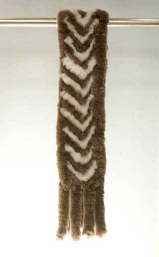 Rabbit Fur Knitted Scarf