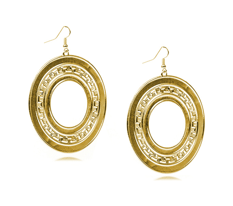 Wholesale Promotion Style Silver Metal Hollow Out Vintage Drop Earring