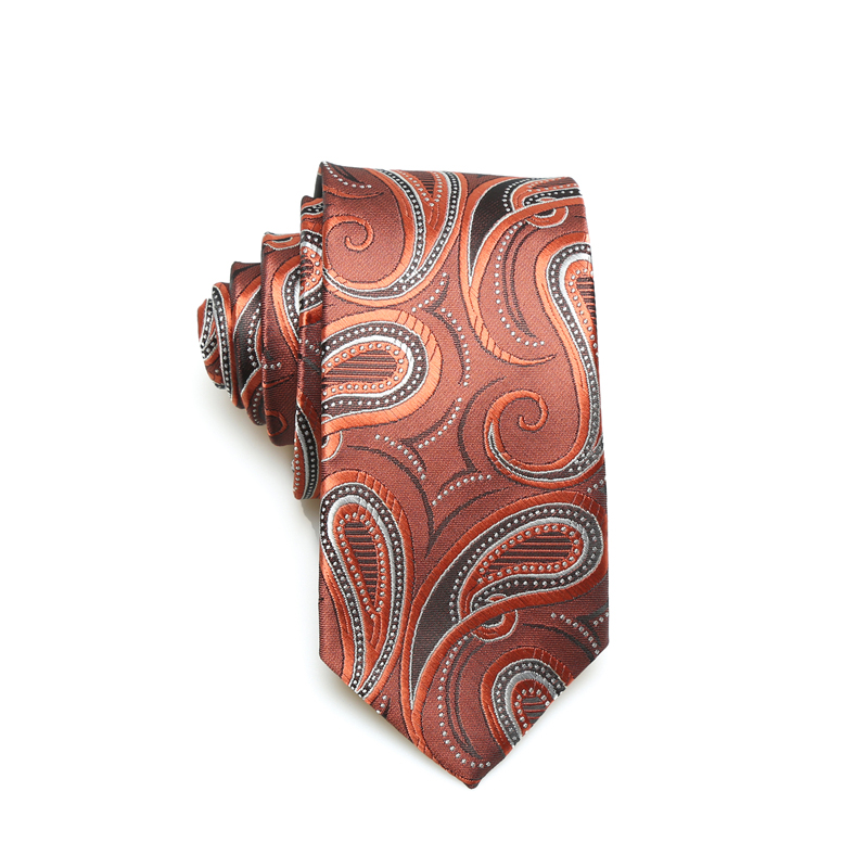 Wholesale Custom Design Paisley Print Ties Men Necktie