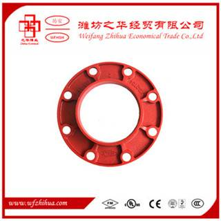 Ductile iron grooved fittings adaptor flange