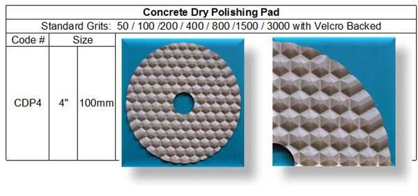Concrete Dry Polishing Pad