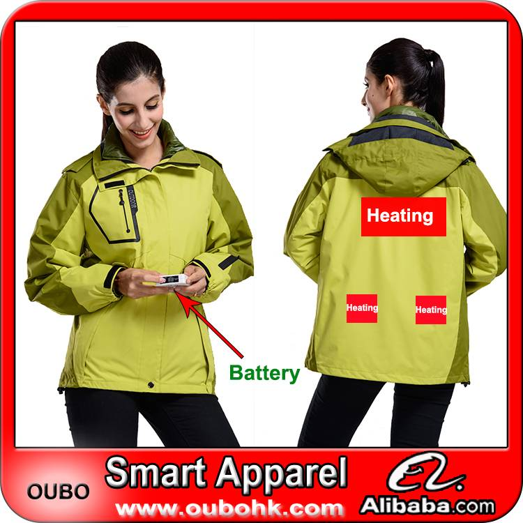Outdoor jacket with battery electric heating clothing battery heated clothing warm OUBOHK