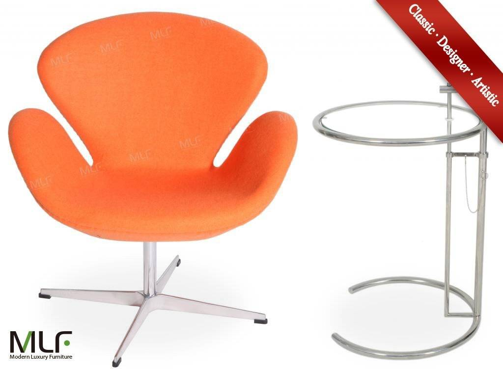 MLF 100% Reproduction of Arne Jacobsen Swan Chair(orange)