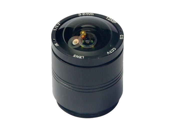 """12 Megapixel lens CS fixed 3.2mm 1/1.7"""" IR mono focal box camera lens"""