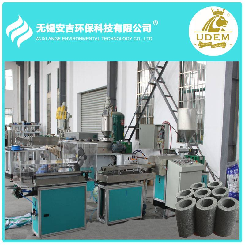 Dust free 2016 CTO active carbon block filter cartridge making machine