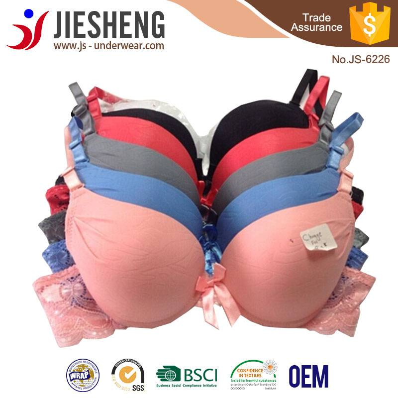 The latest arrival pure color bra with sexy lace,low price and comfortable inner wear,fitness underw