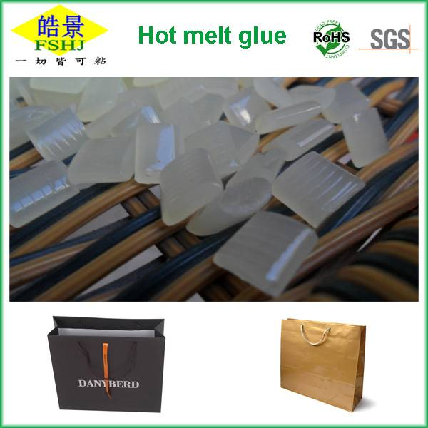 Hot melt adhesive for paper shopping bag