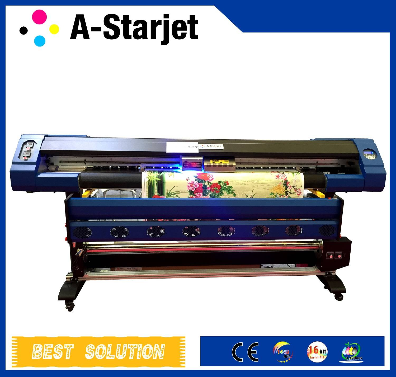 Wide Format LED UV Inkjet Printer with DX7 Head for Printing on Leather / PU / Wall Paper1.8M/5.9ft/