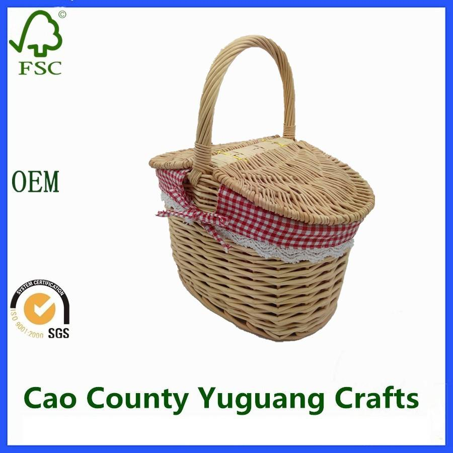Wicker Kids Picnic Basket Cheap Wicker Oval Picnic Basket