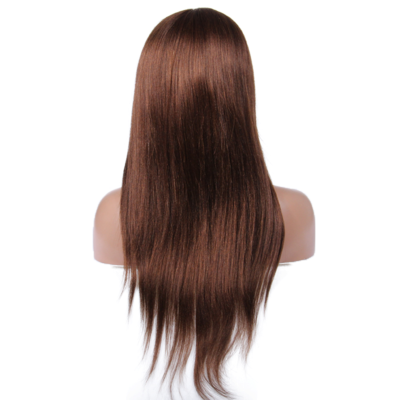 Silk base human hair full lace wig with baby hair,7A grade lace human hair wigs for black women