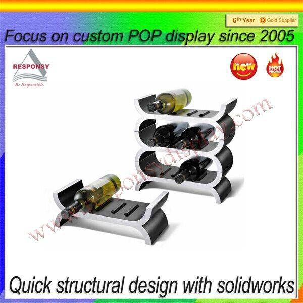 Factory wholesale cheap acrylic bottle display rack