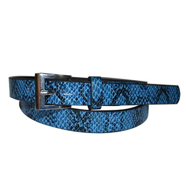 Men PU Belts with Crocodile Printing [JB17032-1-MB]