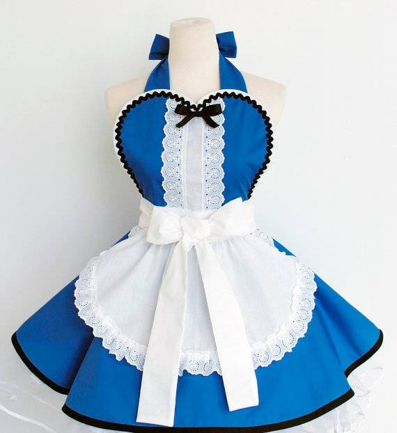 Alice in Wonderland Inspired 100% cotton French-maid lace sexy woman cosplay kitchen cooling apron