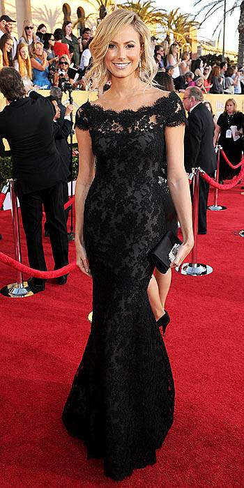 2014 Hot Sales New Custom Made Elegant Black Lace Mermaid Evening Dress/ Party Dress