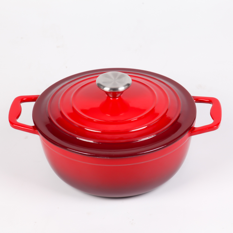 Enamel cast iron dutch oven casserole