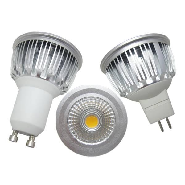silver casing led spotlight