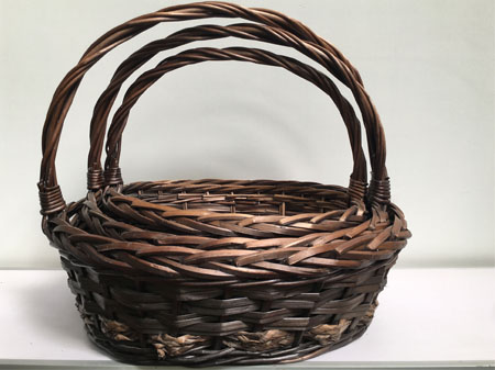 brown snack christmas gift baskets for men with handle