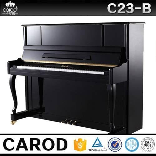 black baby upright piano C23B