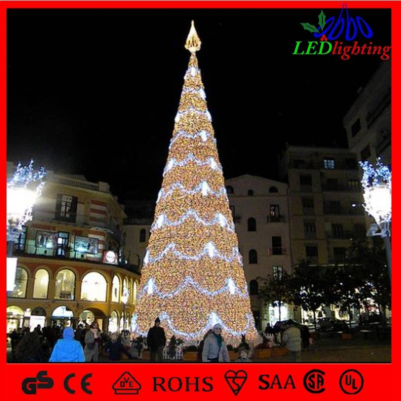 outdoor decoration light artificial giant christmas tree