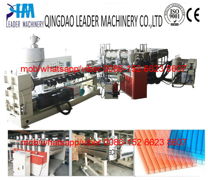 PC multiwall hollow sheet extrusion machine