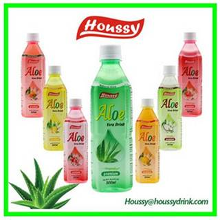 HOUSSY-500ml no coloring PET bottle aloe vera juice