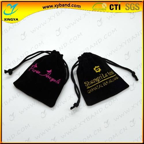 High quality custom design velvet jewelry pouch bag