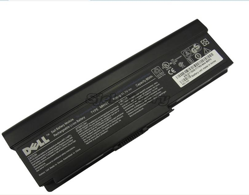 Original Battery DELL FT080 FT092 KX117 NR433 WW116 9Cells 9Cell 85Wh Genuine