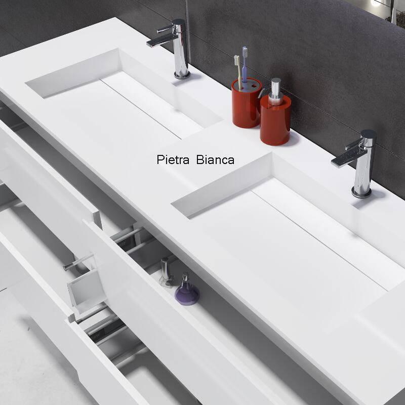 Acrylic Resin Stone Double Basin (PB2082-1500)