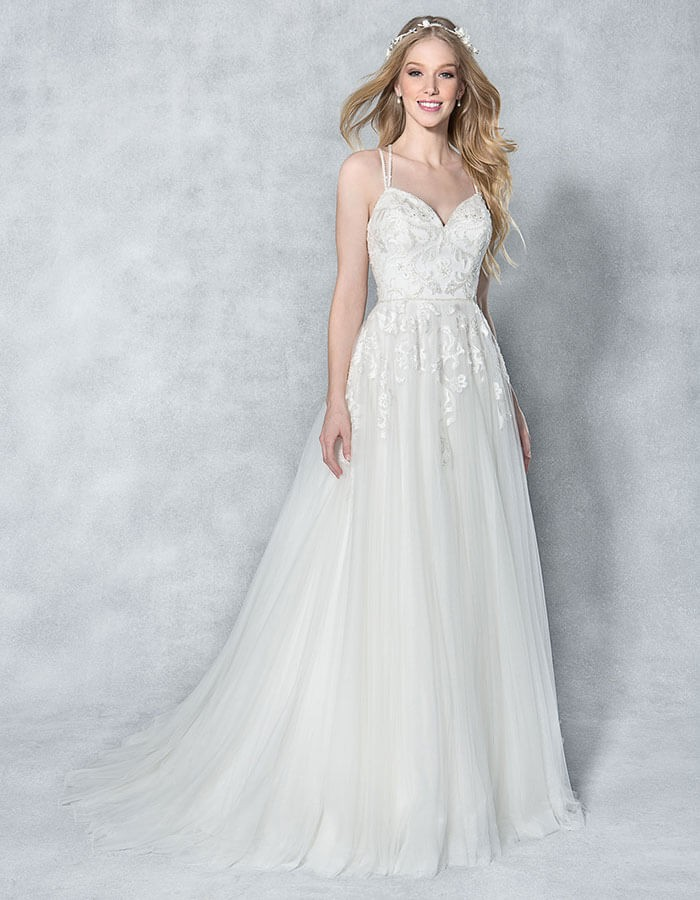 strapless wedding dres sheath wedding dress with france lace