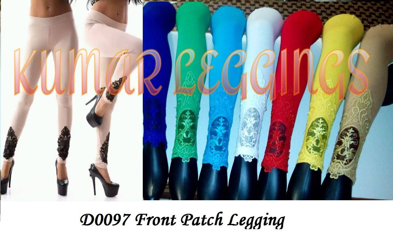 Cotton Lycra Legging, Designer Leggings,   Fancy Leggings, Embroidery Leggings. Patch Work Leggings,