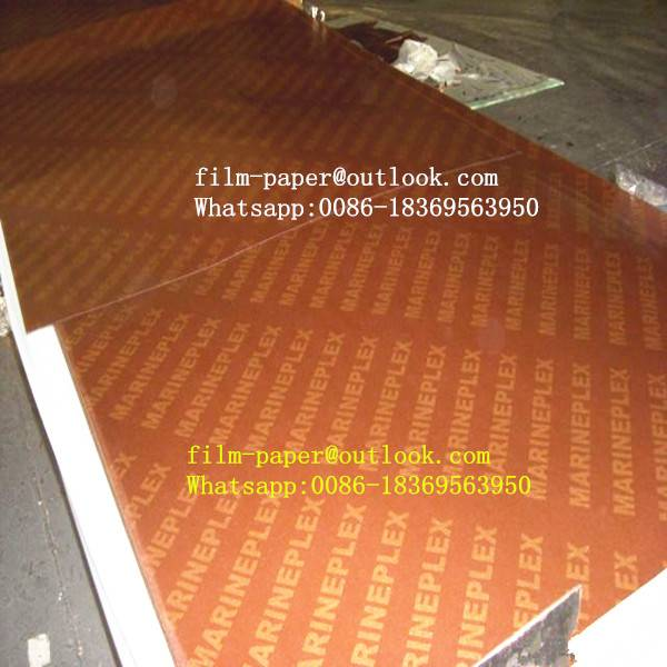 Cheap price impregnated film paper with logo