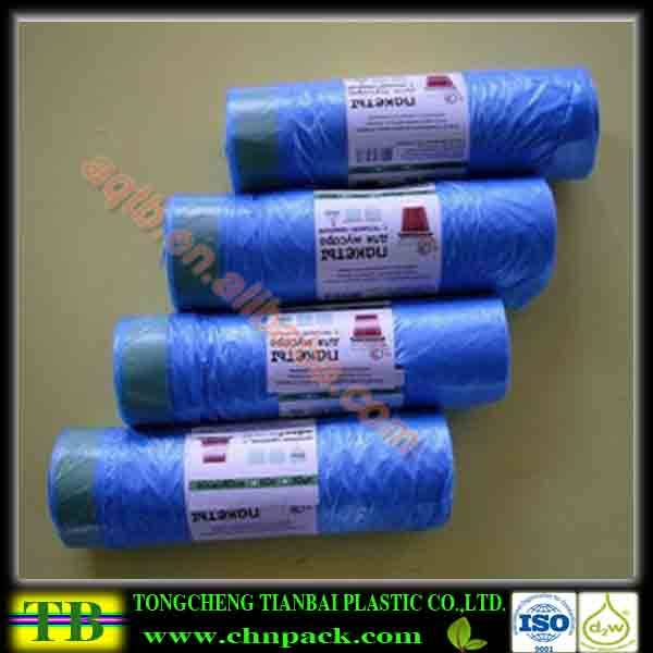 composable draw tape garbage bag