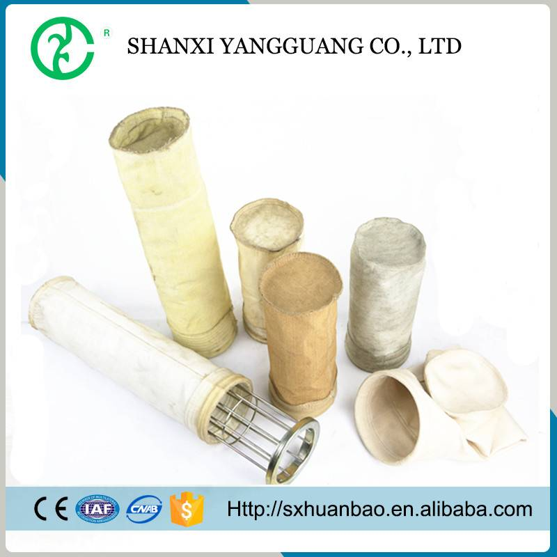 Polyester/p84/pps/fiberglass/Aramid fabric filter bags/ dust collector filters bags