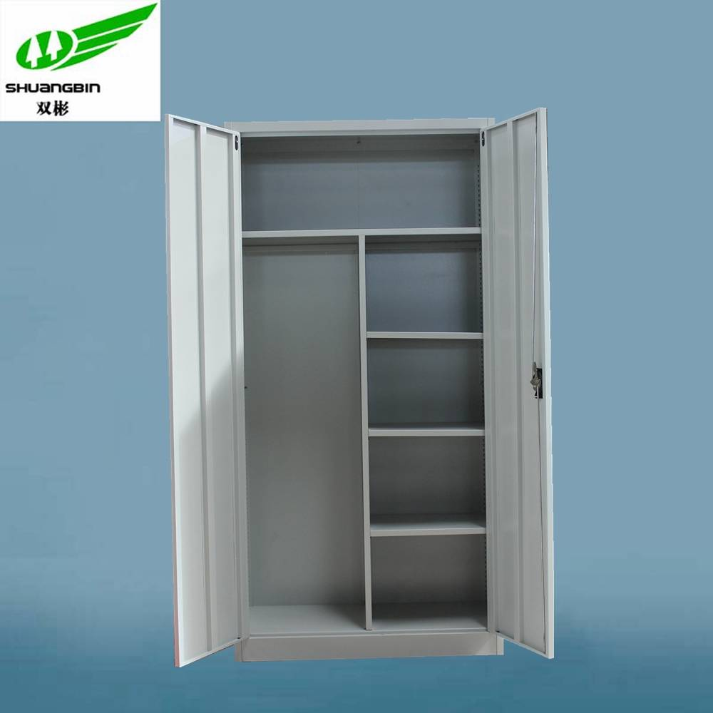 2 door heavy duty locker steel wardrobe cabinet