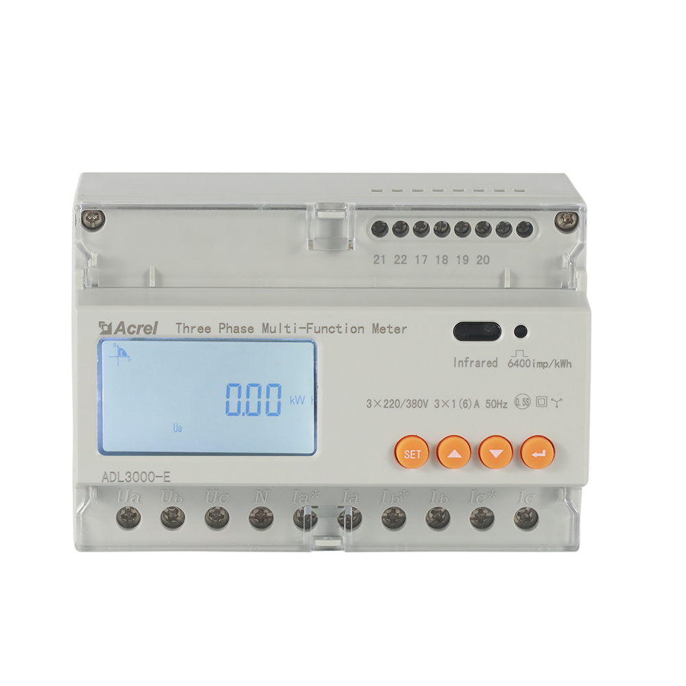 ACREL ADL3000-E 3 phase energy monitoring with 35mm DIN rail mounted energy meter