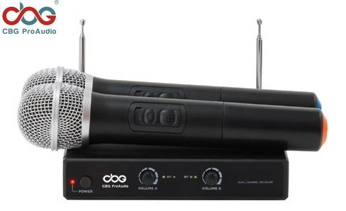 VHF-120 VHF Dual Channel Wireless Microphone