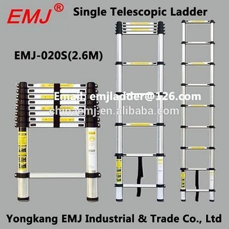 EMJ 2.6m single telescopic ladder