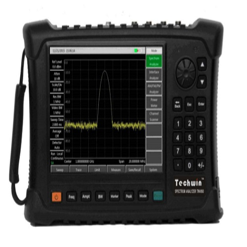 Techwin Portable Spectrum Analyzer TW4950 Broadband Spectrum Monitoring, Interference Recognition