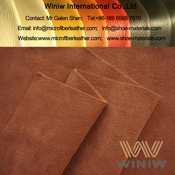 Waterproof Synthetic Suede Leather Fabric for Boots