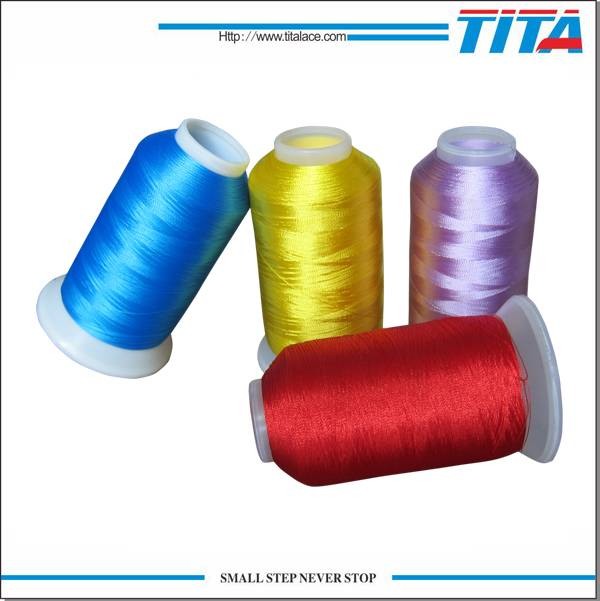 Twisted Polyester filament embroidery thread