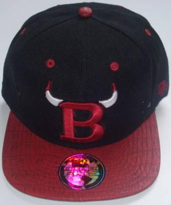 Bulls brand 100% acrylic fabric with custom embroidery snapback cap