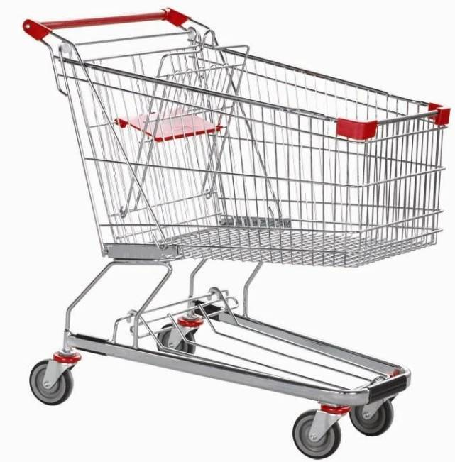 unfolding supermarket shopping trolley
