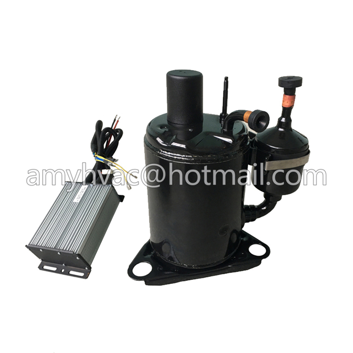 sleeper bus aircon kits electric 12V compressor replace scroll for 12v/24v dc battery power ac