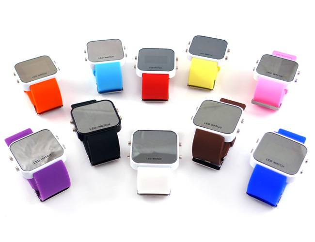 Popular silicone LED watch