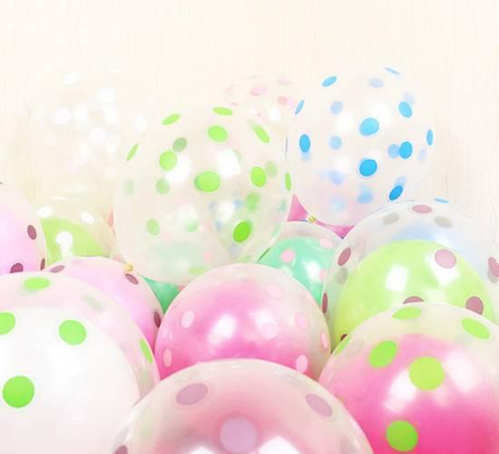 Dot pringting ballons