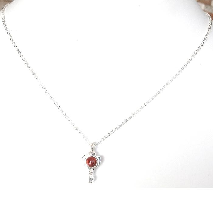 gemstone sterling silver pendant
