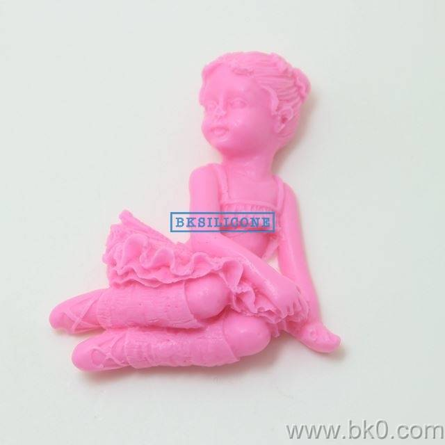 Hot 3D Angel Dancer Girl Silicone Molds DIY Mould For Cake Jelly Chocolate Handmade Soap  AA008