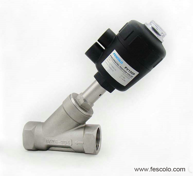 PV100 Series Female Thread Ends Angle Seat Valve