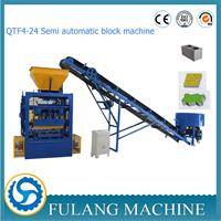 QT4-24 Semi automatic China multifunctional concrete vibrated brick block making machine